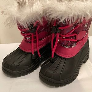 FANTINY Winter Snow Boots for Girls Size 25